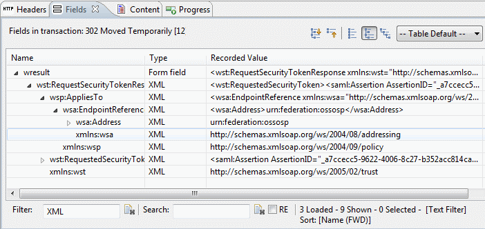 example of XML fields