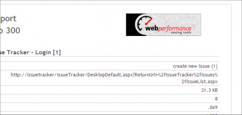 Example of a custom logo in a load test report