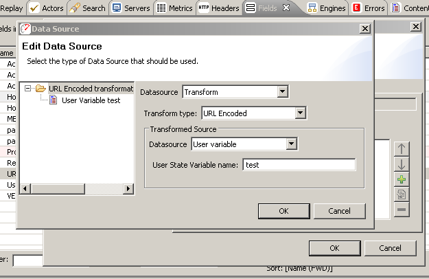 Adding a URL-encoded Transform of a User Variable datasource