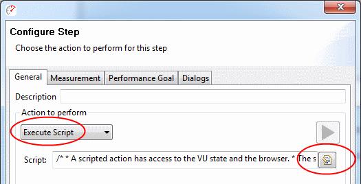 Execute Script - Web Performance